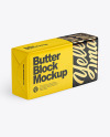 Glossy Butter Block Mockup