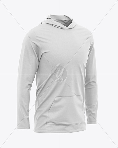 Men's Lightweight Kangaroo Pocket Hoodie T-Shirt