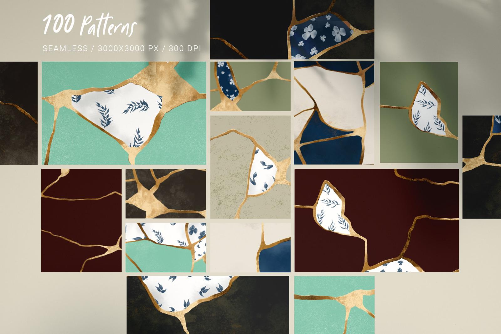Luxury Japanese Seamless pattern set