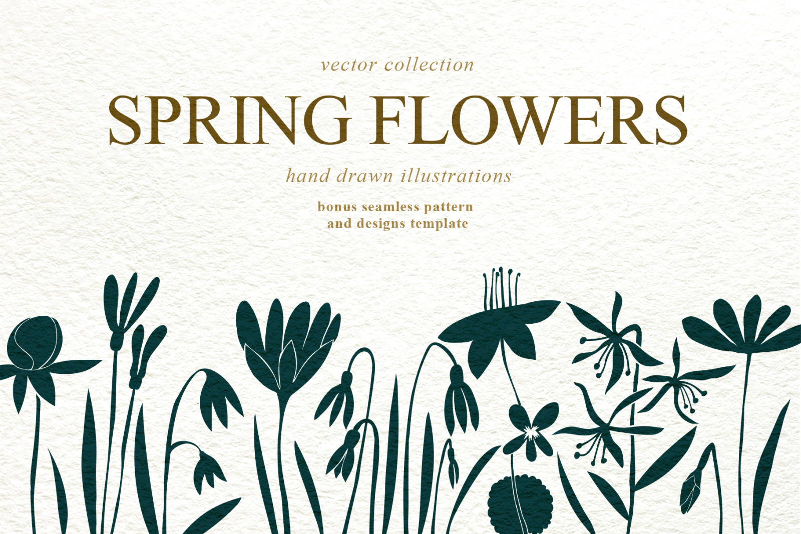 Spring Flowers Vector Collection