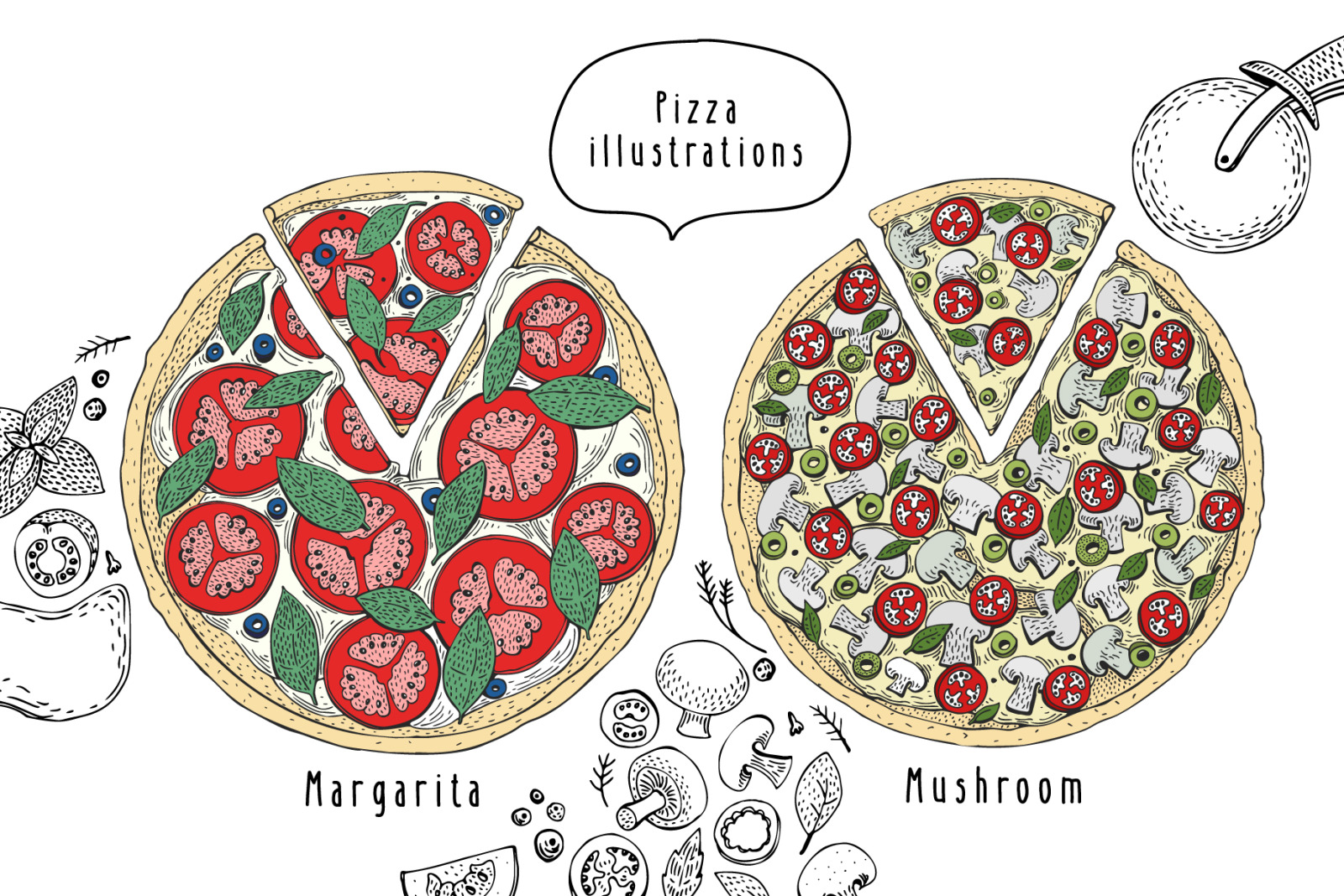 Pizza Vector Collection