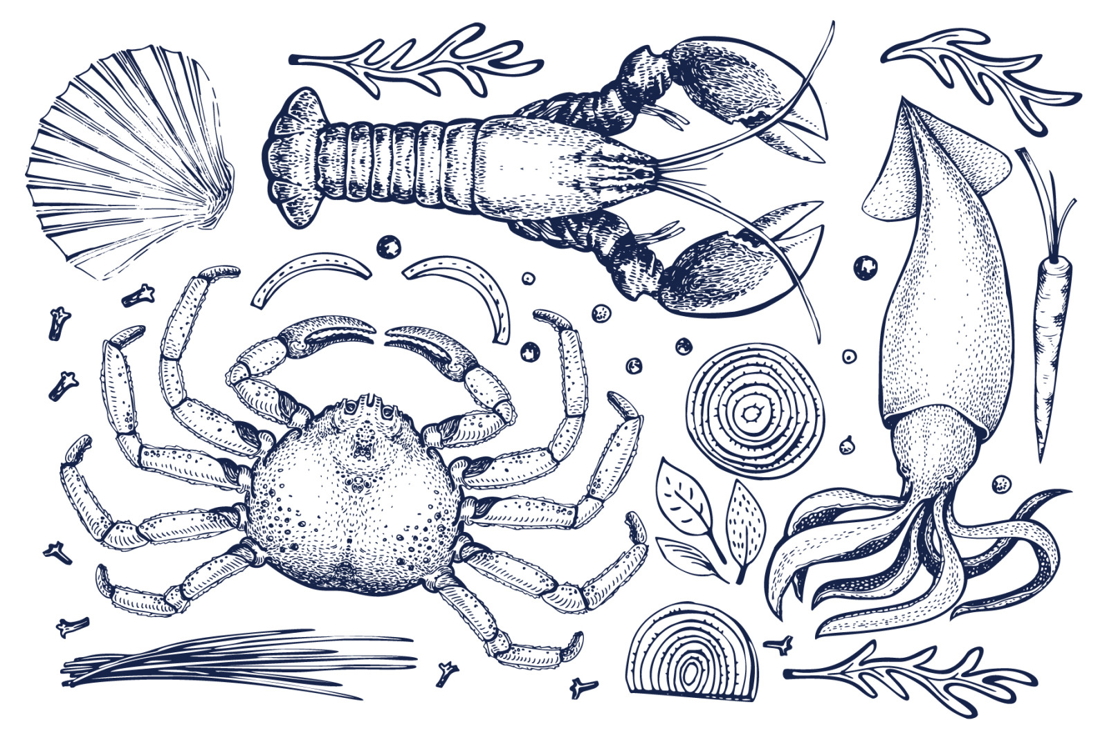 Seafood Vector Collection