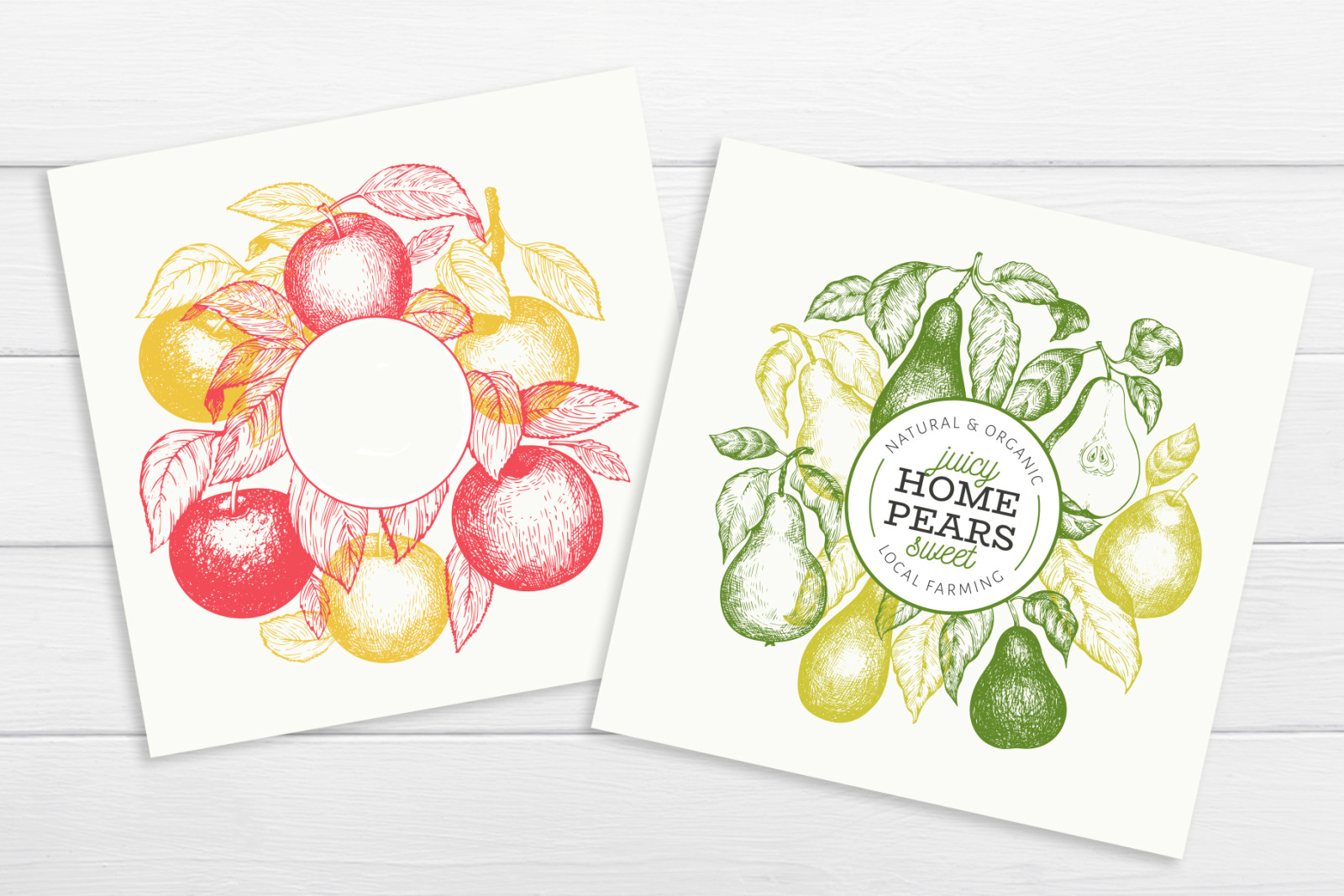 Apple & Pear Vector Collection