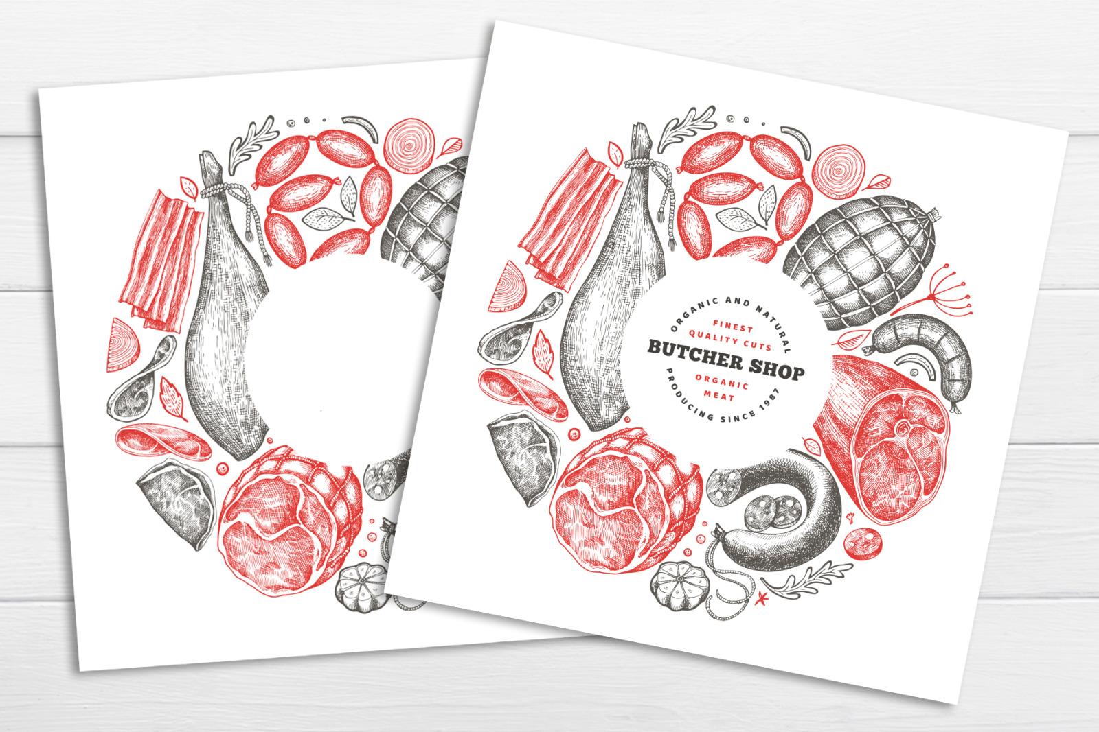Butcher Shop Vector Collection