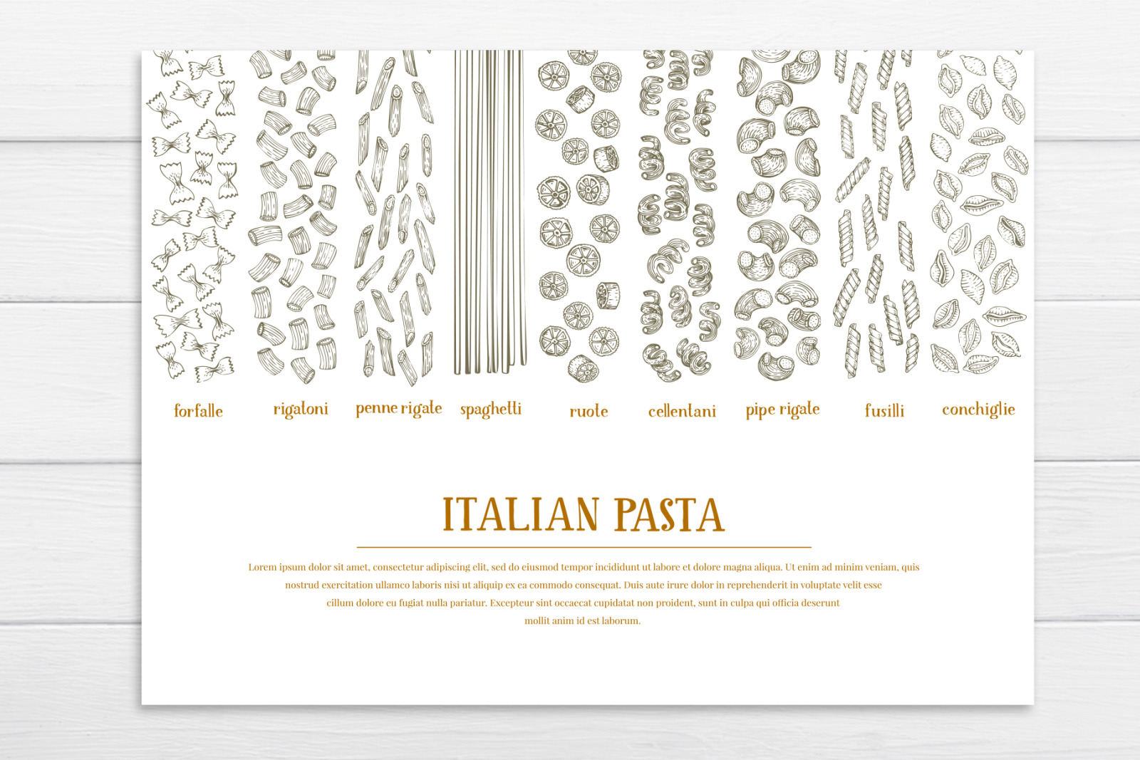 Pasta Vector Collection