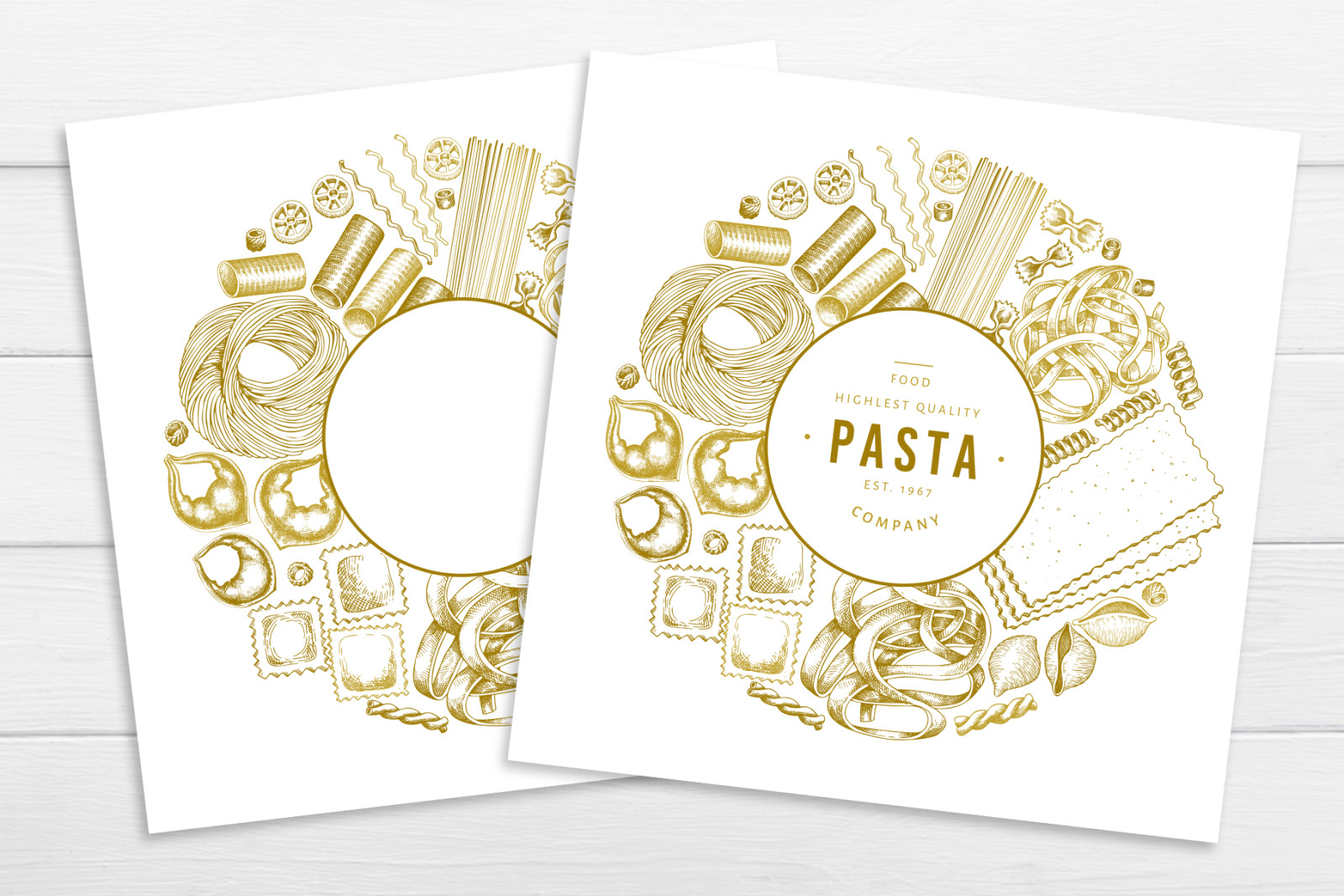 Pasta Vector Collection #2