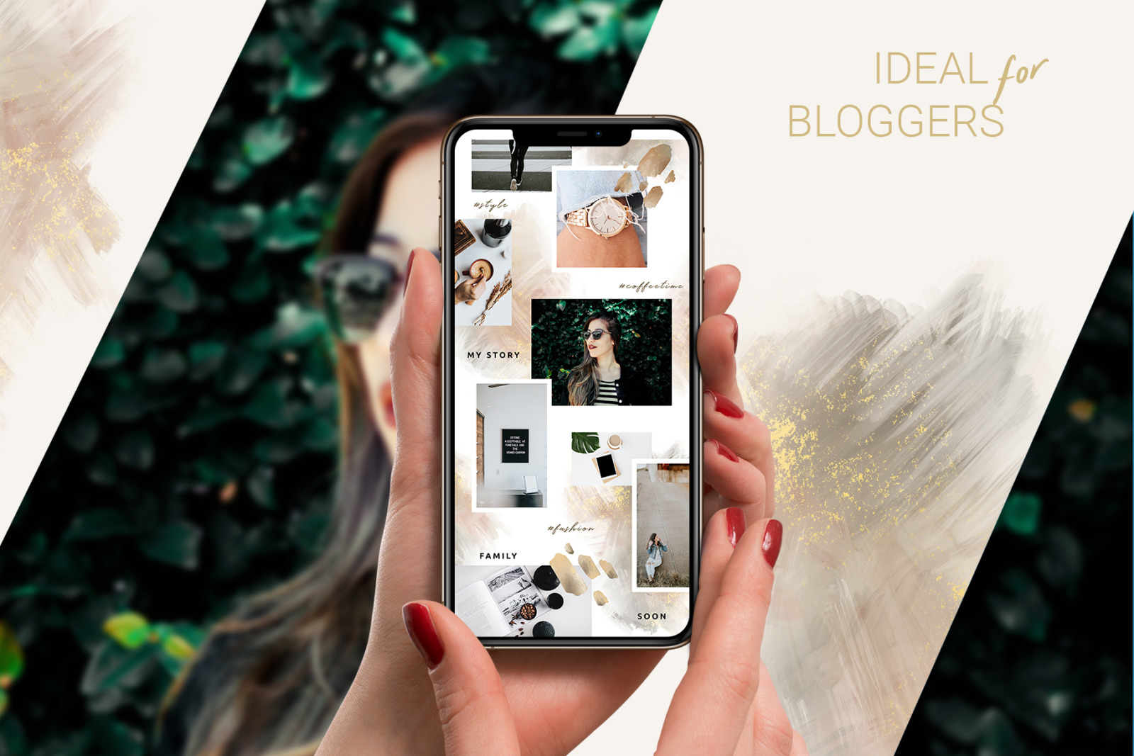 Abstract Instagram Puzzle Template