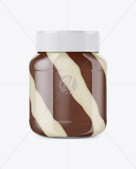 Download Clear Glass Jar With Chocolate Paste Mockup PSD - Free PSD Mockup Templates