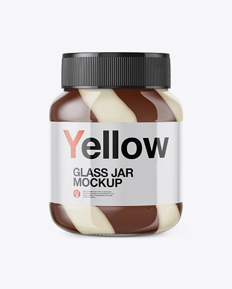 Glass Jar with Mixed Spread Mockup - Front View