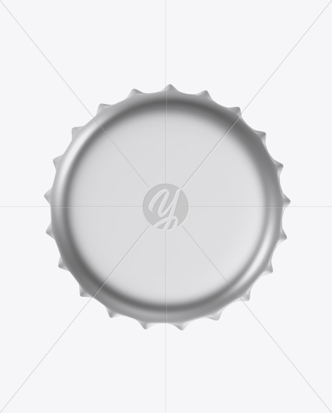 Matte Metallic Bottle Cap Mockup