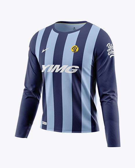 Men\'s Long Sleeve T-Shirt Mockup