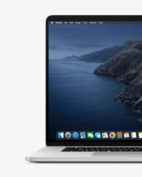 "Macbook Pro 16"" Front View Mockup"