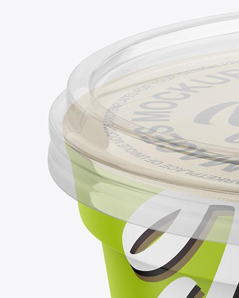 Matte Cream Jar Mockup