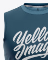 Men's Sleeveless Shirt Mockup - Front View Of Muscle Shirt