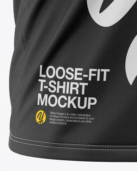 Men's Loose-Fit T-shirt Mockup - Front Half-Side View
