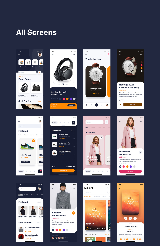Pallas Mobile UI Kit