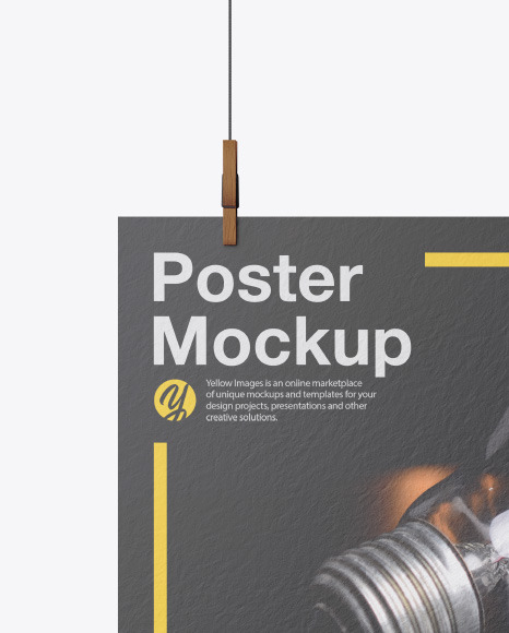 Textured A3 Poster Mockup