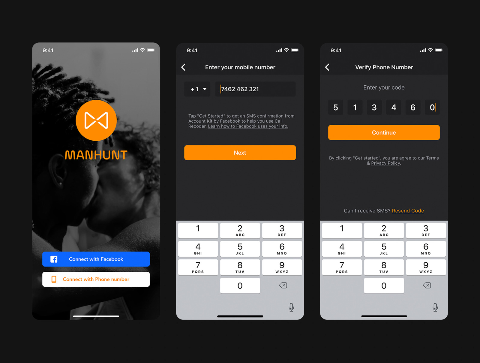 ManHunt - Dating app UI Kit