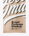 Kraft Bag With Bread Mockup