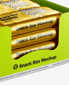Metallic Snack Box Mockup
