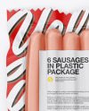 6 Sausages Pack Mockup
