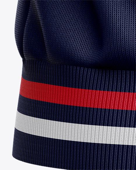 Men's Quarter Zip Sweatshirt Mockup - Back View
