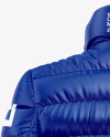 Glossy Women's Down Jacket Mockup - Back View