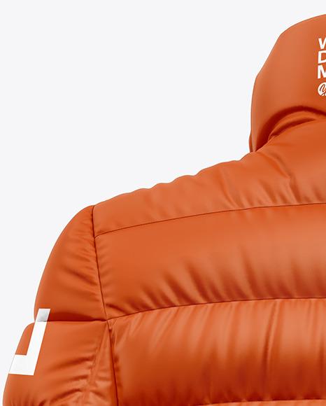 Matte Women's Down Jacket Mockup - Back View