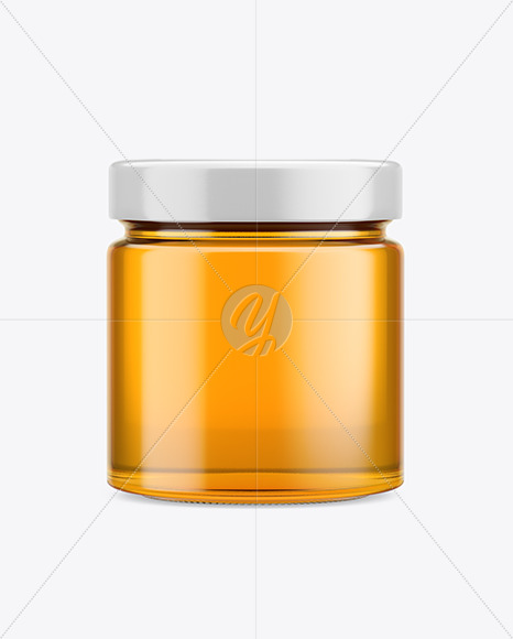 Download Honey Jar Mockup In Jar Mockups On Yellow Images Object Mockups PSD Mockup Templates