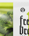 Plastic Tray With Broccoli Mockup