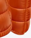 Matte Women's Down Jacket Mockup - Back Half Side View