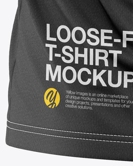 Men's Loose-Fit T-shirt Mockup - Back View