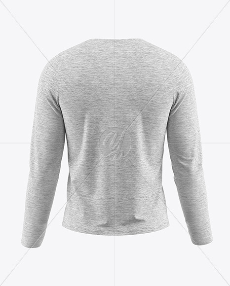 Download Mens Long Sleeve T Shirt Hq Mockup Back View Yellowimages
