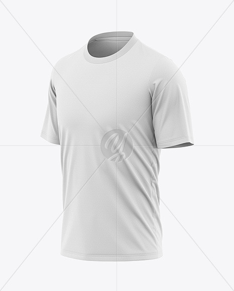 Men's Loose-Fit Graphic Tee Mockup - Front Half-Side View