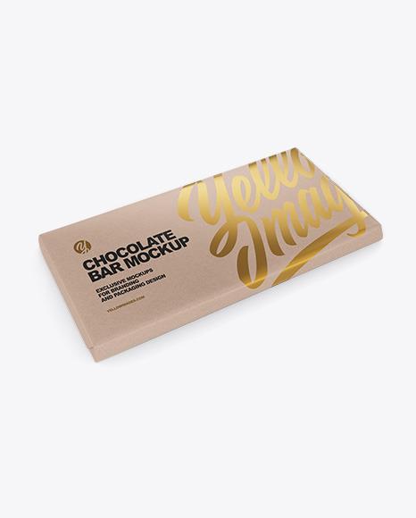 Download Chocolate Bar Kraft PSD Mockup