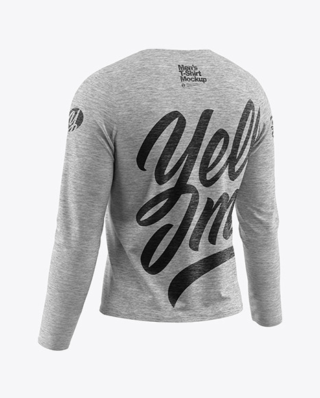 Melange Men's Long Sleeve T-Shirt Mockup