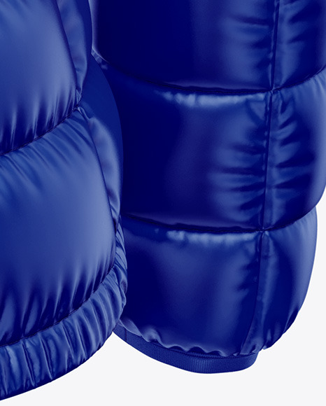 Download Glossy Womens Down Vest Whood Mockup Front View Yellowimages