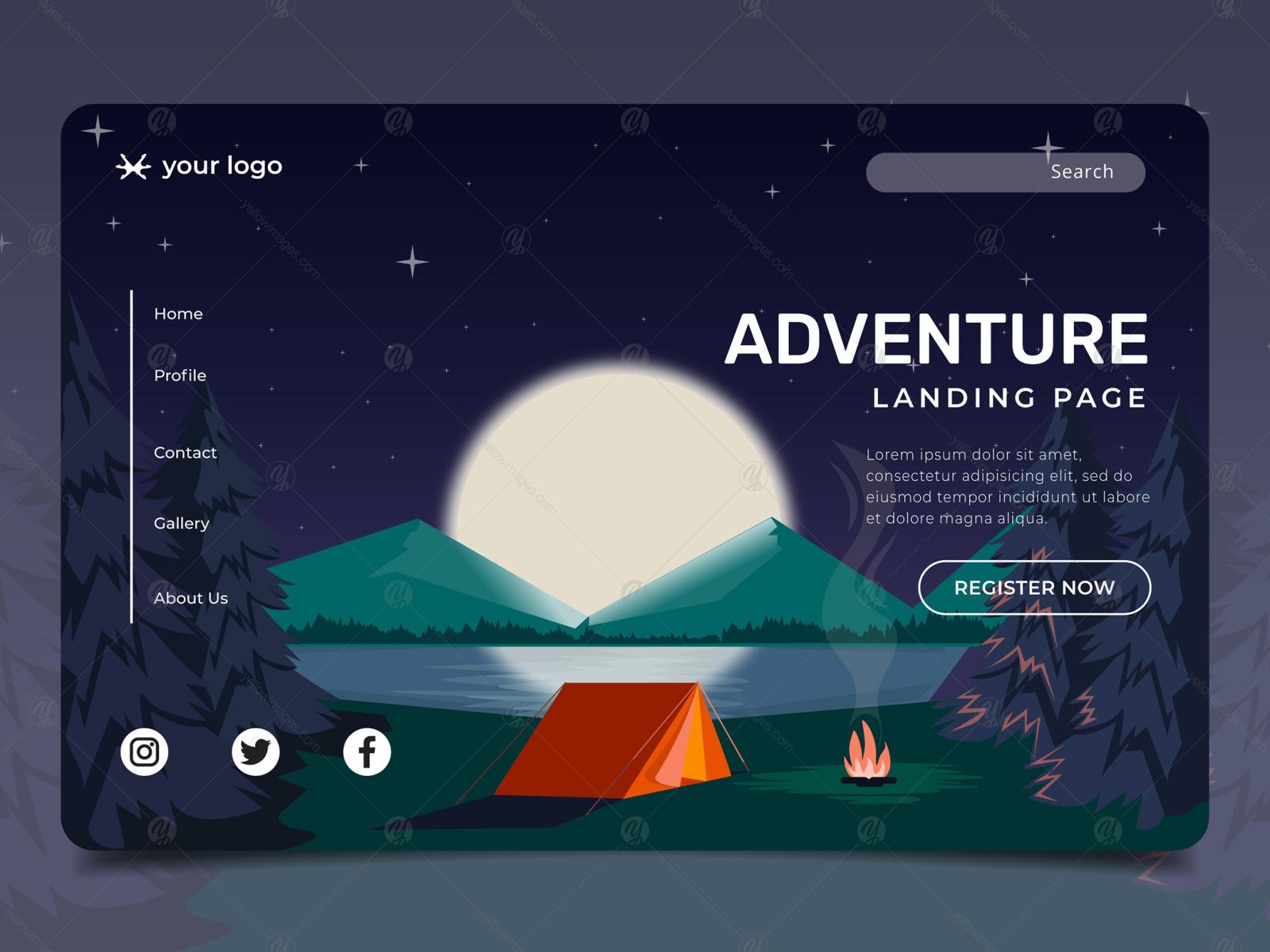 Website Illustration set - Landing Page