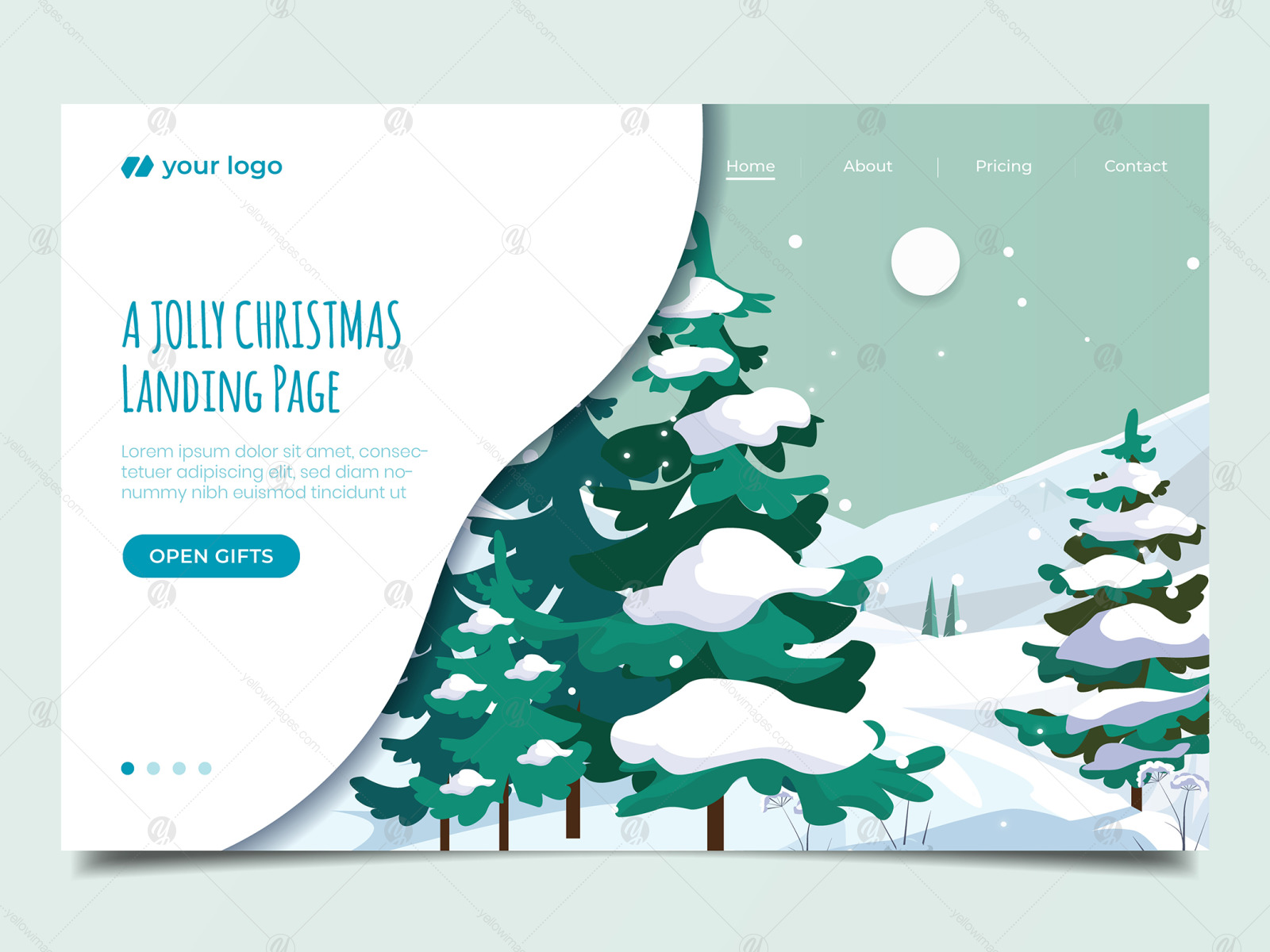 Website Illustration set - Landing Page