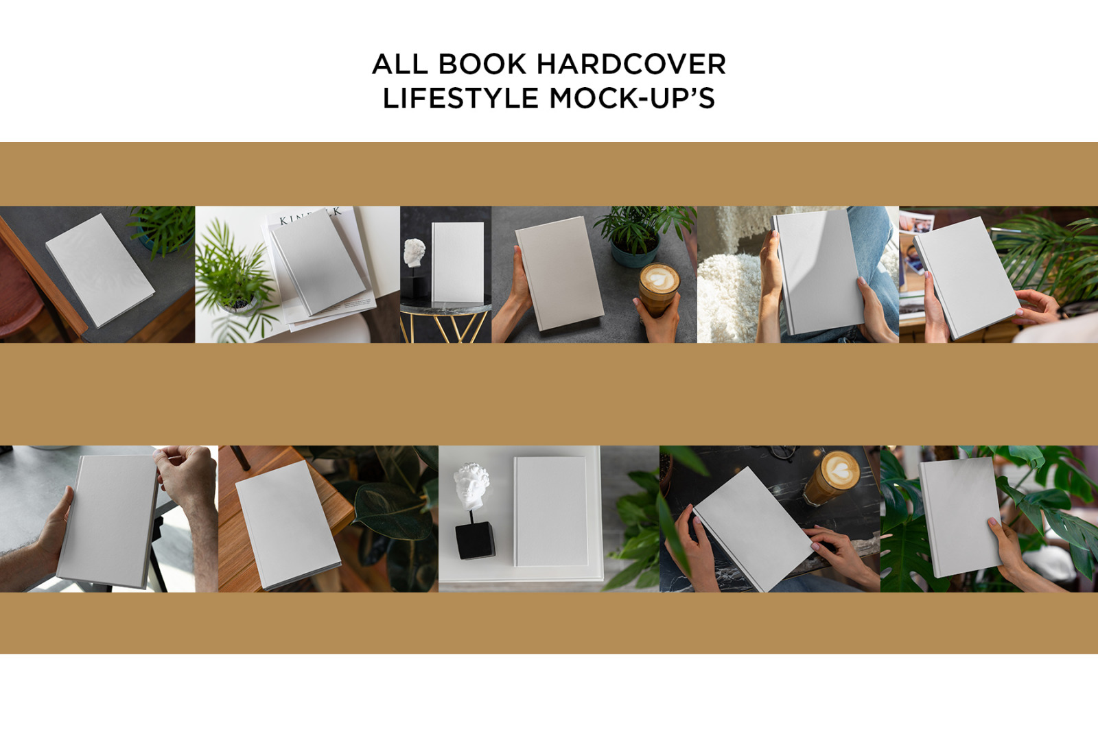 Book Hardcover Lifestyle Mockup