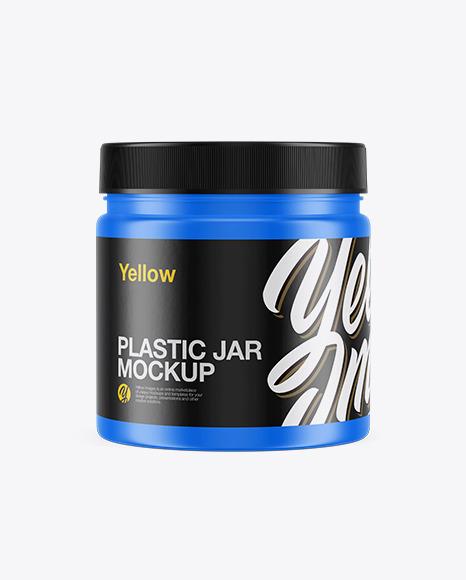 Sport Nutrition Matte Plastic Jar Mockup - Front View