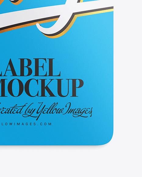 Glossy Label Mockup