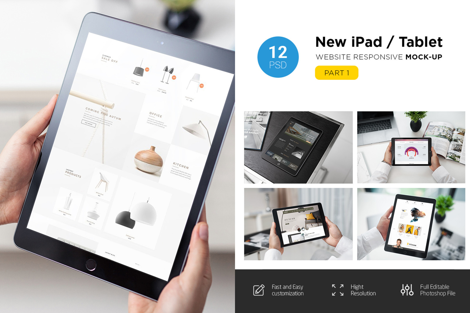 Download New Ipad Responsive Mockup In Device Mockups On Yellow Images Creative Store PSD Mockup Templates