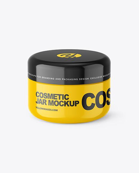 Download Glossy Plastic Jar PSD Mockup