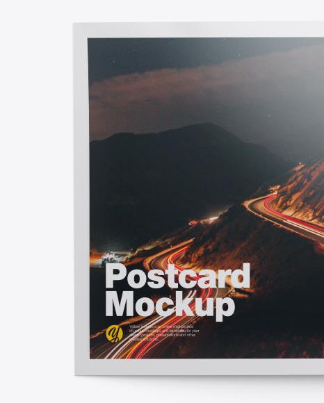 Glossy A5 Postcard Mockup