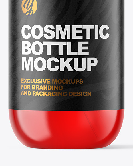 Plastic Cosmetic Bottle with Pump Mockup