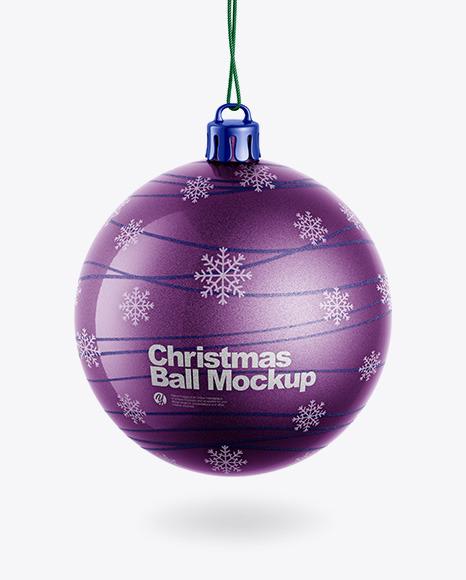 Download Metallic Christmas Ball PSD Mockup