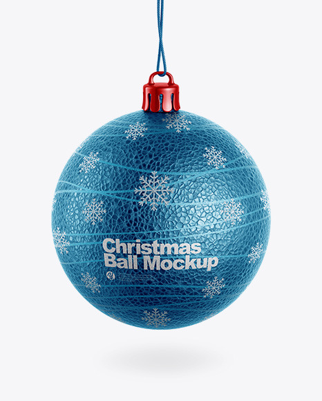Download Textured Christmas Ball PSD Mockup