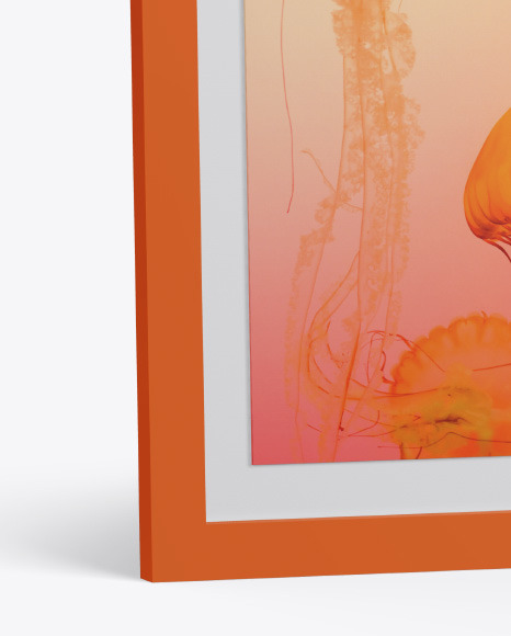 Glossy Photo Frame Mockup