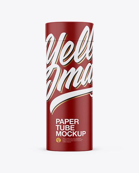 Download Matte Paper Tube PSD Mockup